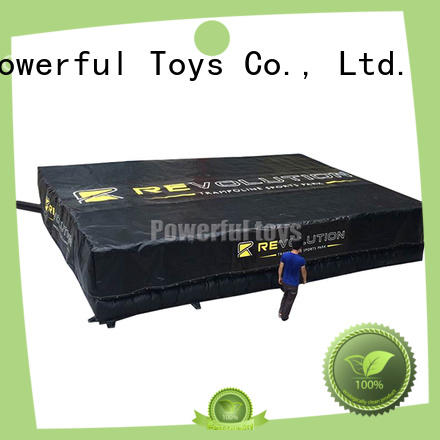 Powerful Toys top quality trampoline air bag for wholesale