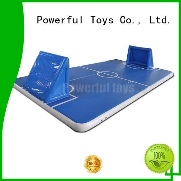 Powerful Toys mini air track on water gym for big trampoline