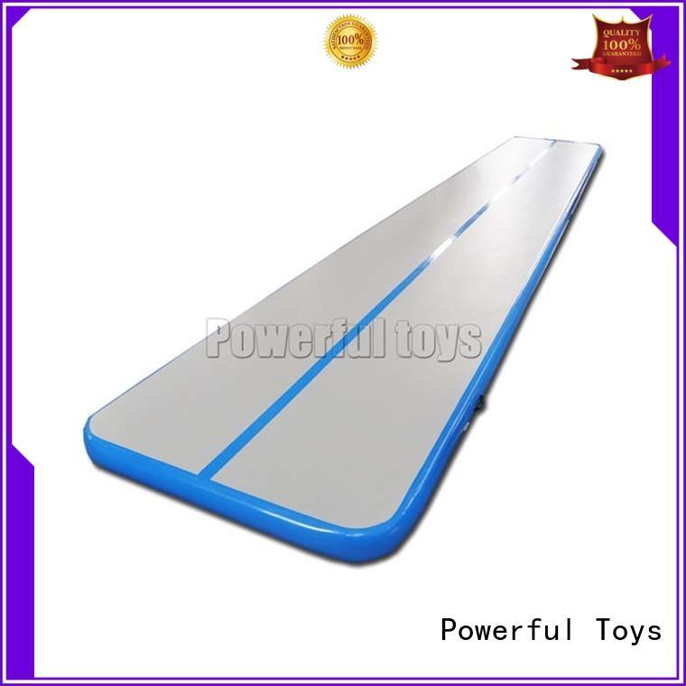 Powerful Toys gymnastic air track gym tumble for football