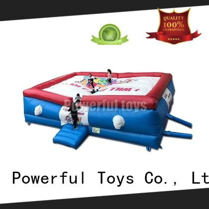 Powerful Toys inflatable jumping air bag platform for game