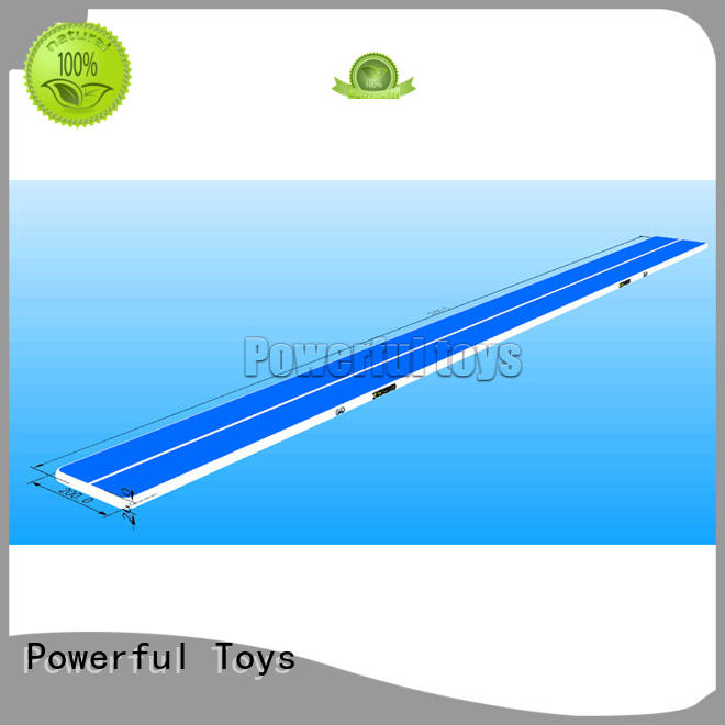 Powerful Toys Brand tumble blue air track uk manufacture