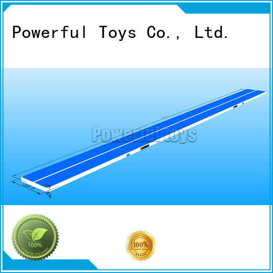blue gym mat gymnastic for cheer leading Powerful Toys