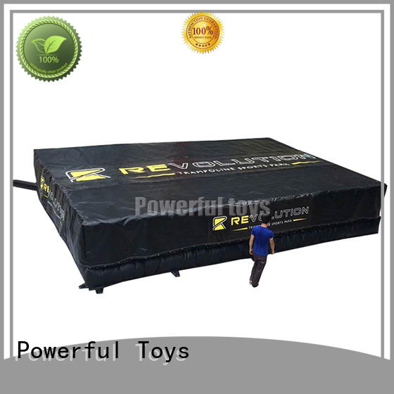 customized airbag trampoline cheapest factory price for sale Powerful Toys