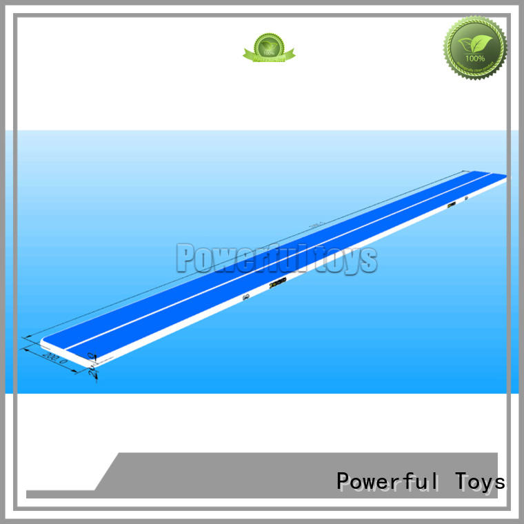 Powerful Toys longest air track tumbling mat hall for game