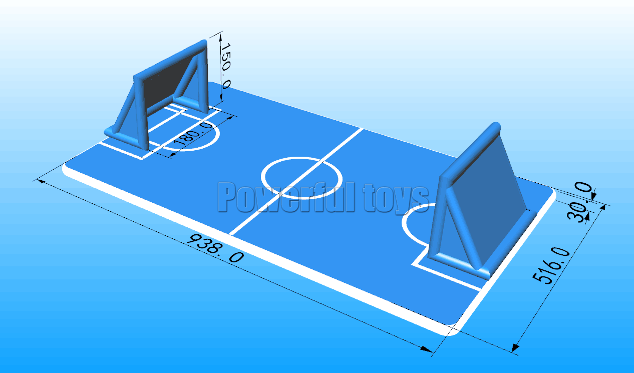 Gymnastic air track floor for football game-1