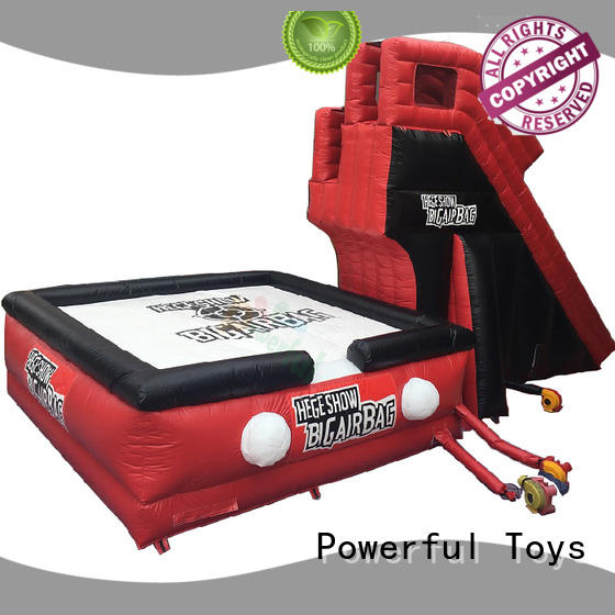 Powerful Toys inflatable jump stunt bag for jumping