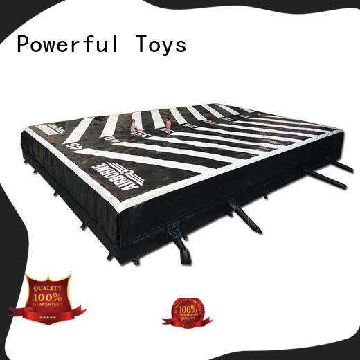 Powerful Toys top quality airbag trampoline at discount for sale