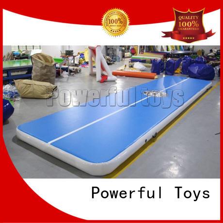 Powerful Toys mini air track slip and slide gym floor