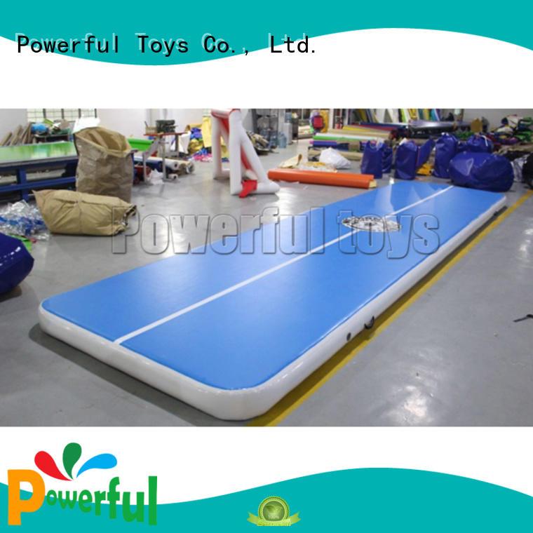 Powerful Toys mini air track gymnastics mat hall football
