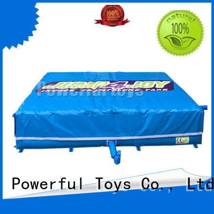 Powerful Toys pit air trampoline