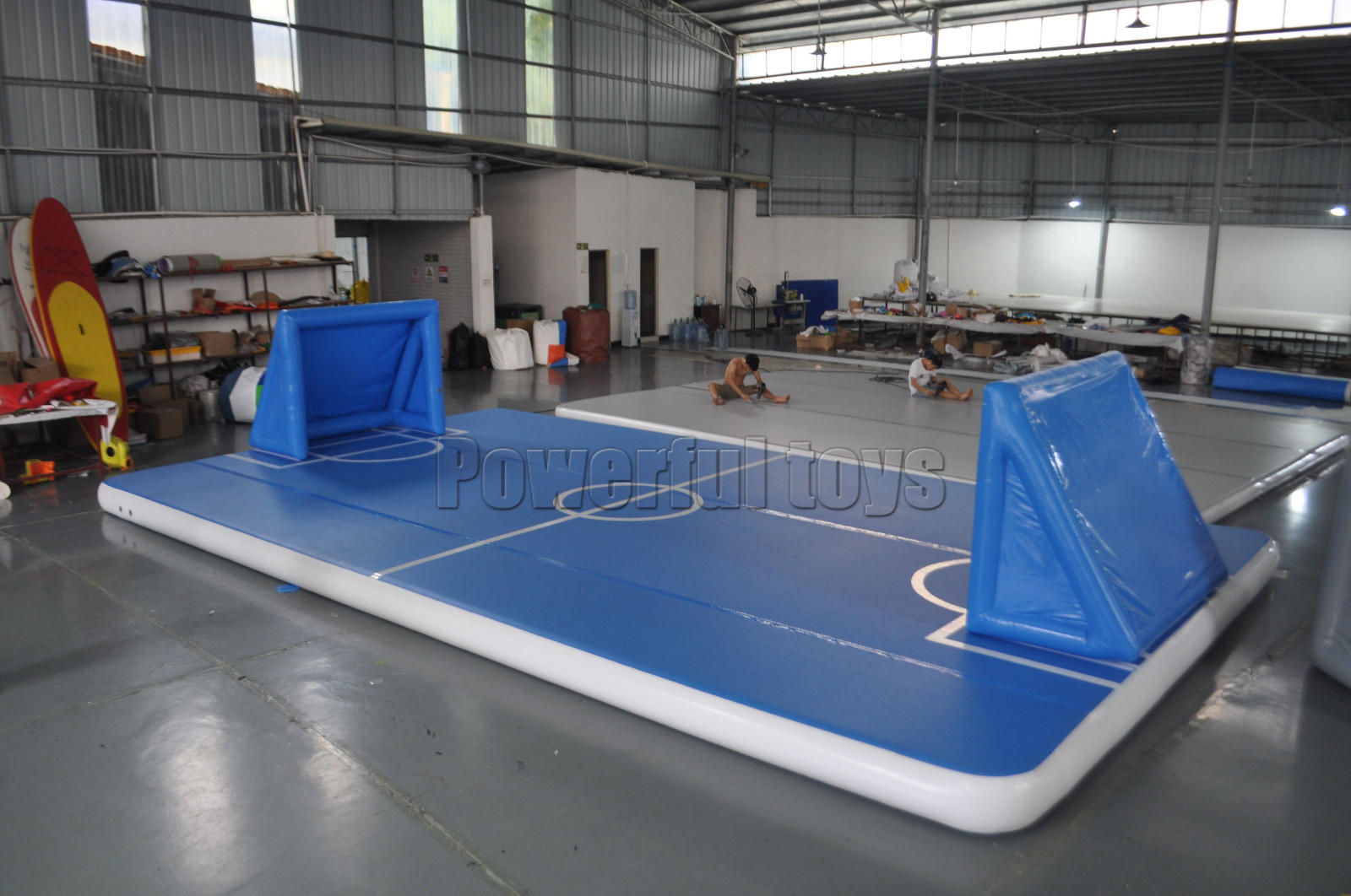 Gymnastic air track floor for football game-2