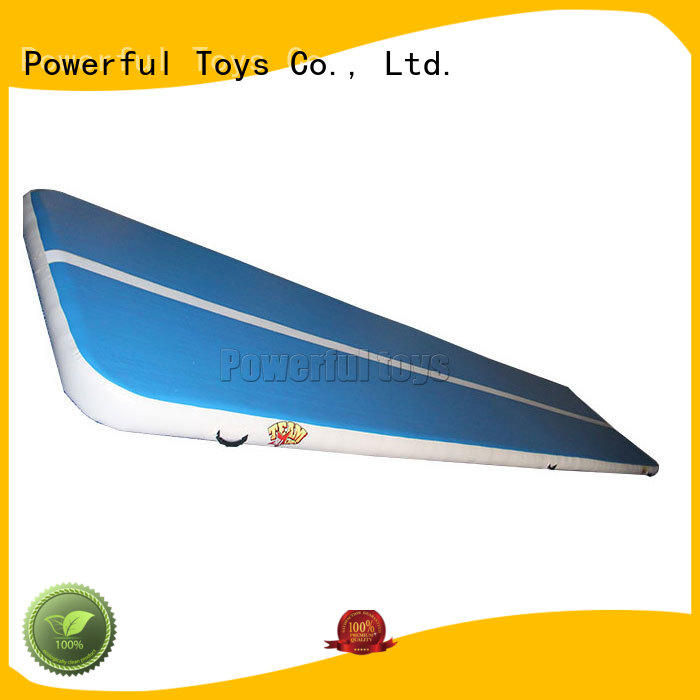 Powerful Toys inflatable air track tumbling mat gymnastics for football