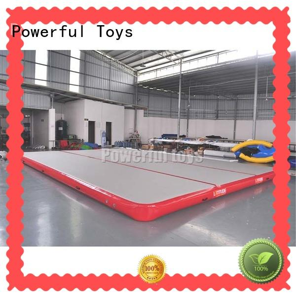 Powerful Toys gymnastic gymnastics air track for home tumble for game