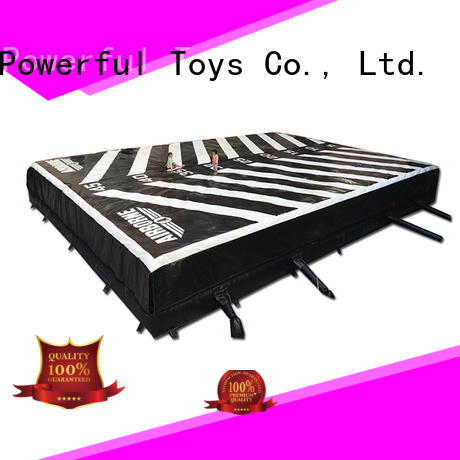 Powerful Toys customized trampoline airbag landing for wholesale