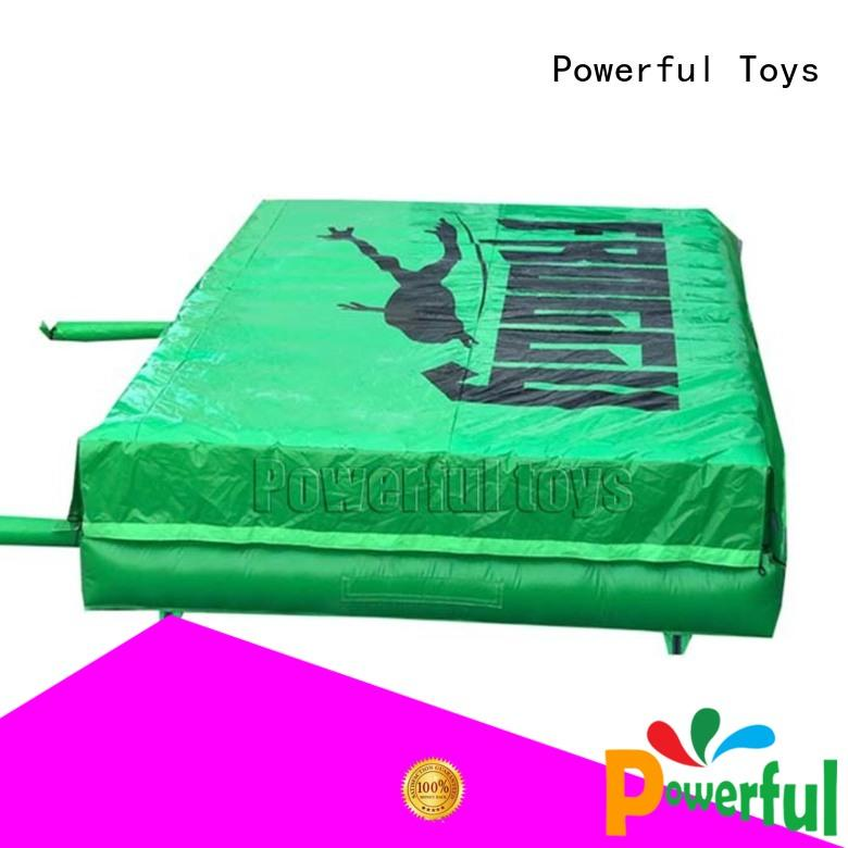 Powerful Toys pad air trampoline at discount