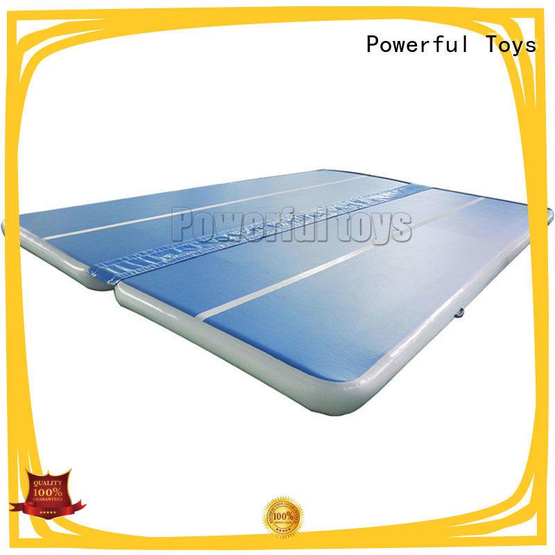 Powerful Toys blue air track gym for football