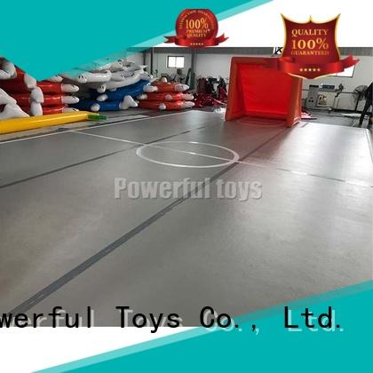 Powerful Toys blue air track gymnastics hall products for big trampoline
