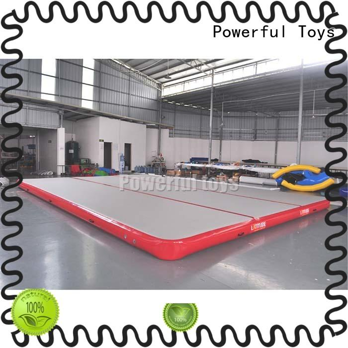 Powerful Toys inflatable gym air track mattress floor