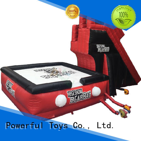 Powerful Toys park jumping air bag free for jumping