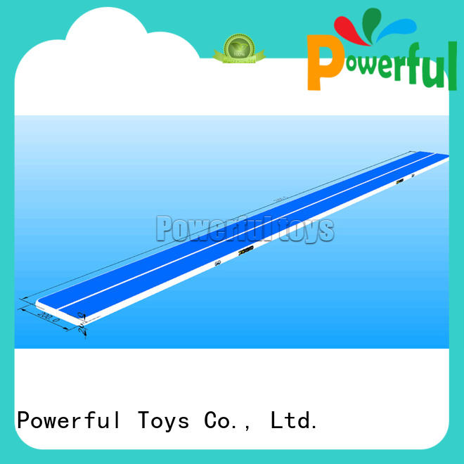 Powerful Toys blue air track gym for game