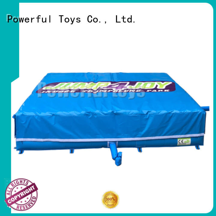 foam pit air bag inflatable for amusement park Powerful Toys