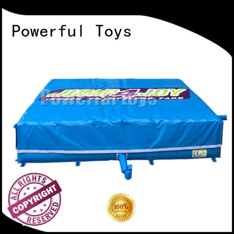 Powerful Toys trampoline air bag for amusement park