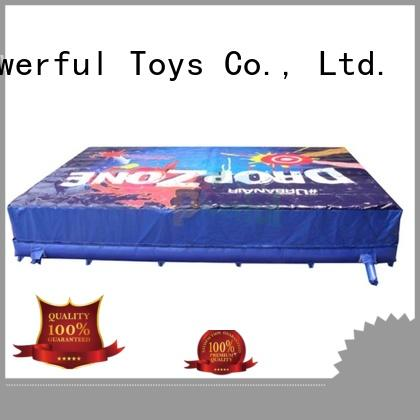 Powerful Toys park airbag trampoline for wholesale
