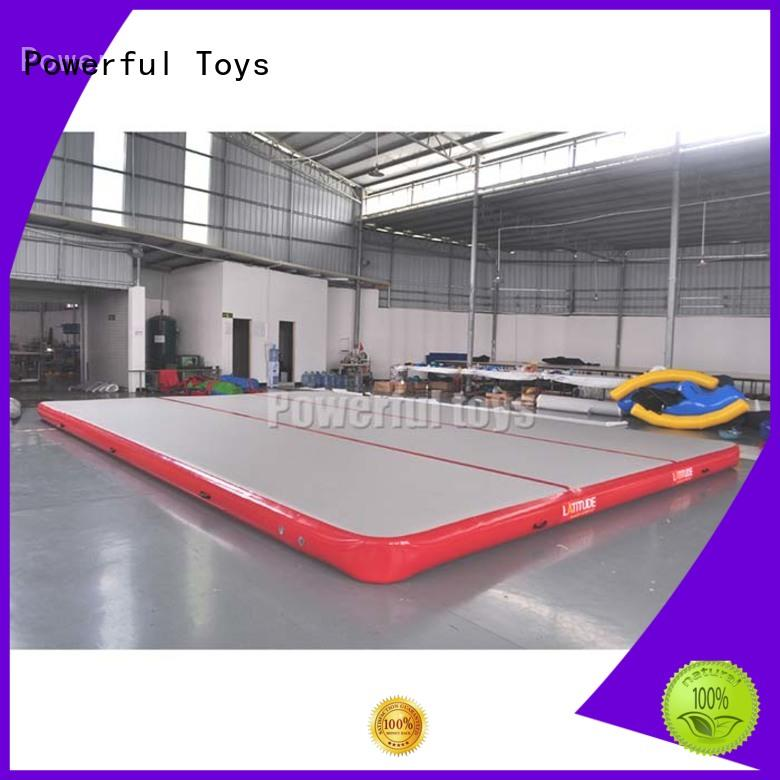 Powerful Toys gymnastic gymnastics air track for home floor for dancing
