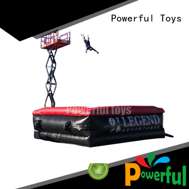 Powerful Toys inflatable freestyle air bag fall for jumping