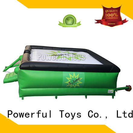 Powerful Toys customized jumping airbag for skateboard