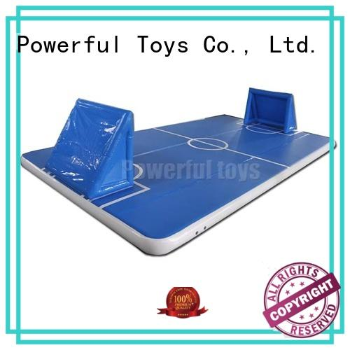 Powerful Toys blue small air track gymnastics for dancing