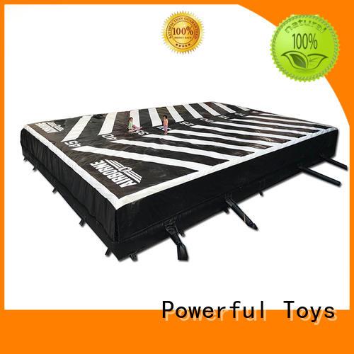air cushion trampoline airbag pad for amusement park Powerful Toys