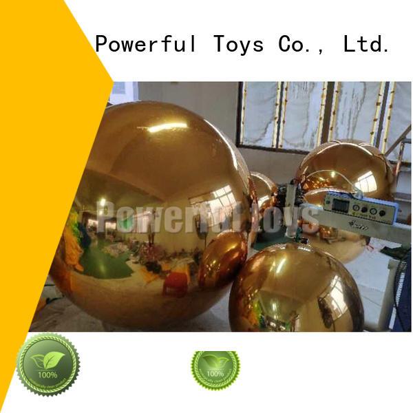 Golden advertising inflatable mirror balloon