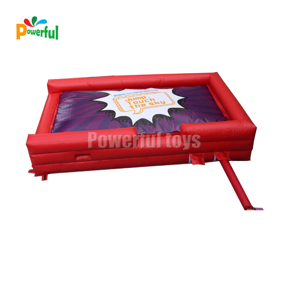 inflatable landing pad for trampoline park