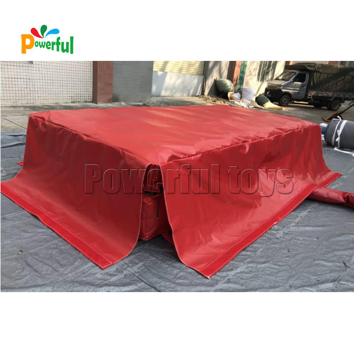 Mini inflatable jump landing airbag for trampoline park