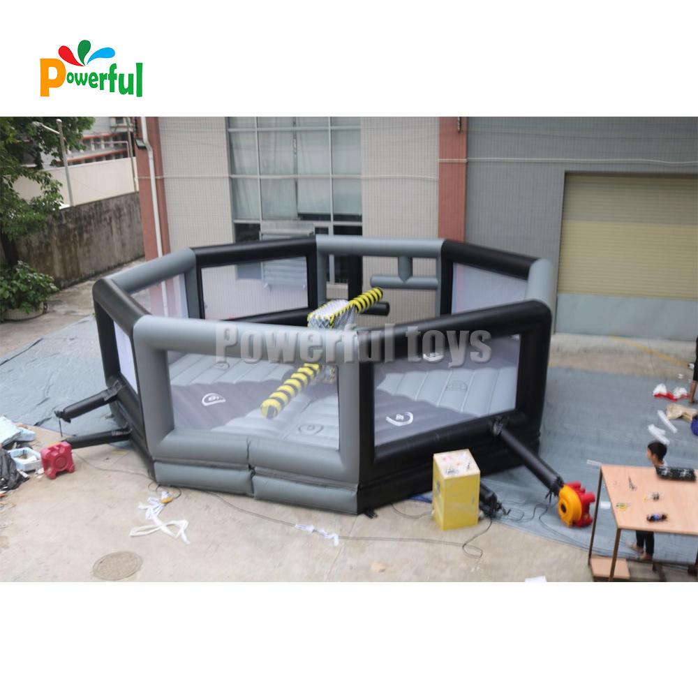 8 player inflatable wipeout mechanical ride game/ wipe out toxic inflatable meltdown game for sale