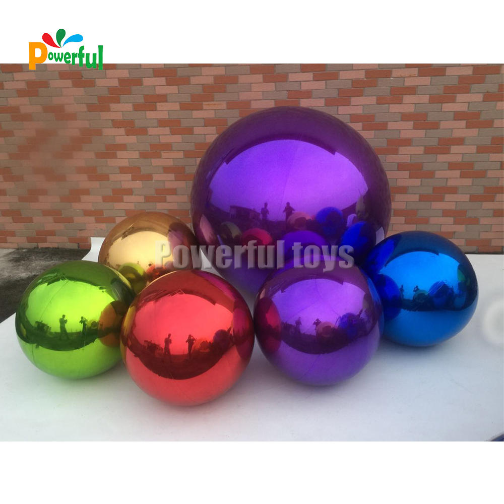 Colorful inflatable mirror balloon