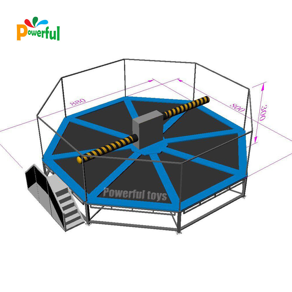 8m DIA wipeout trampoline Challenge game