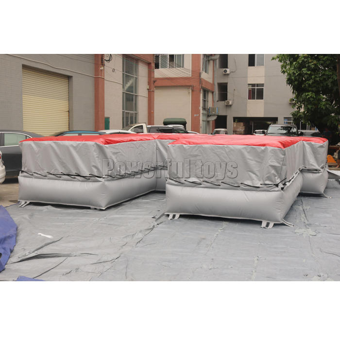 Customized inflatable airbag landing mat for athlete training