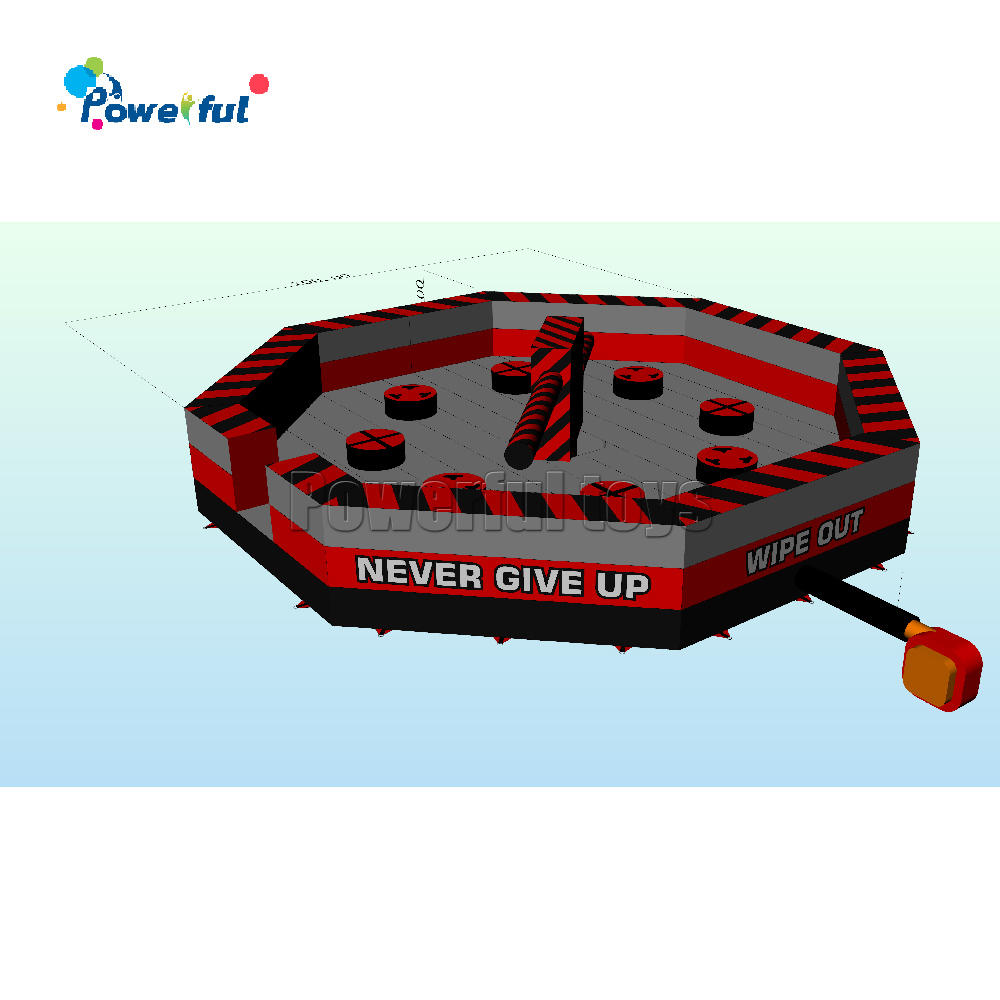 7m diameter infatable wipeout /eliminator /meltdown game