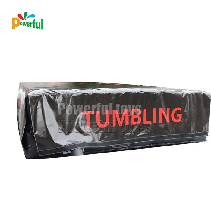 Inflatable foam pit airbag stunt jump airbag for trampoline park