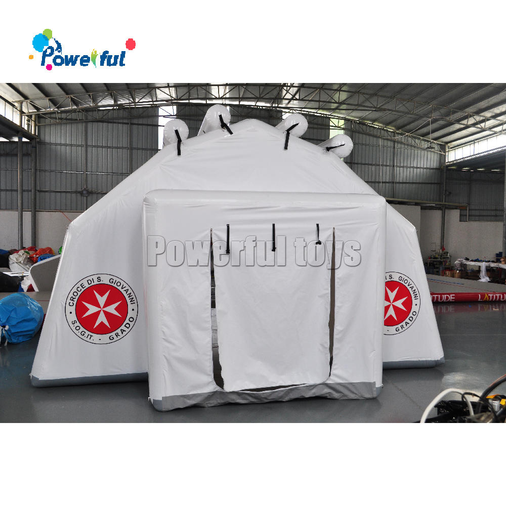 Outdoor portable inflatable emergency tent