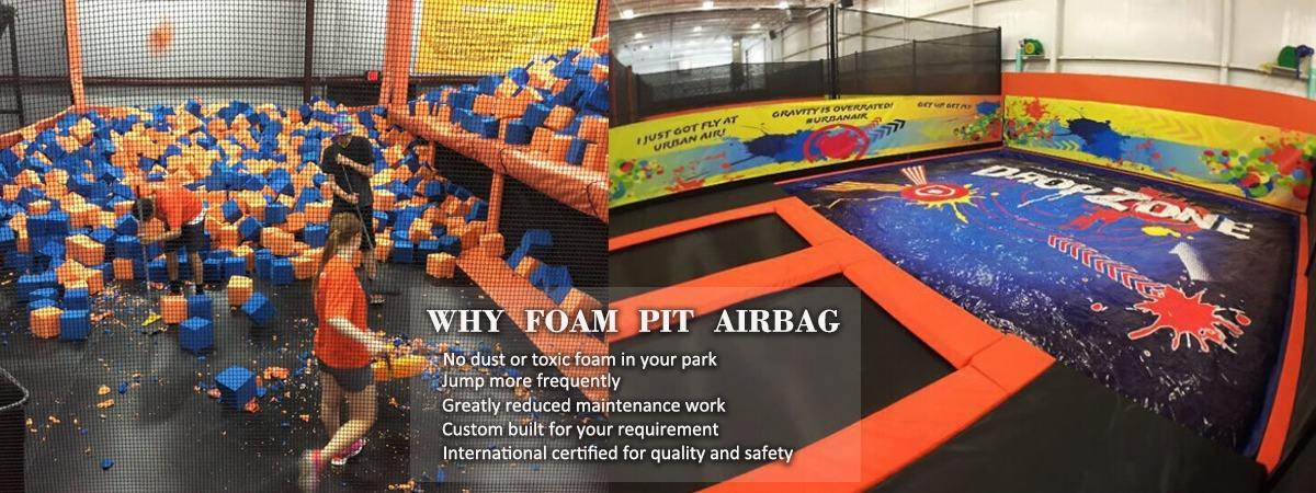 Powerful Toys foam pit airbag cheapest factory price for sale