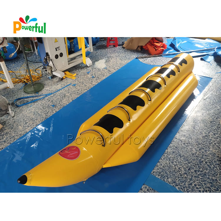 New style PVC coated inflatable water games flying fish banana boat