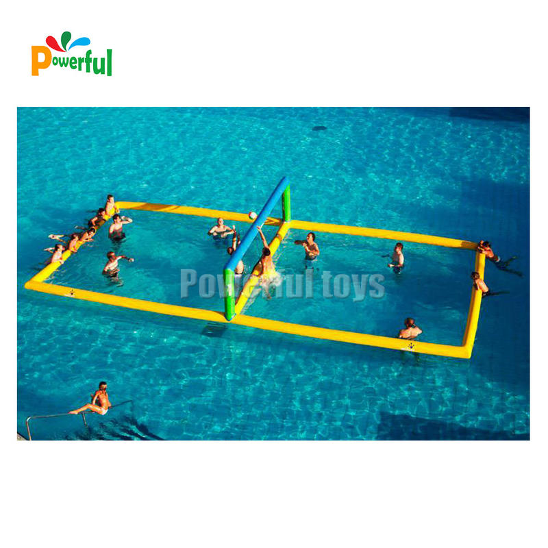 Floating inflatable water volleyball court