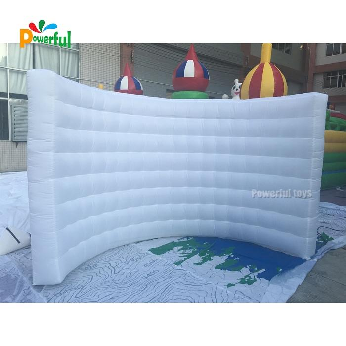 Customized LED inflatable photo booth wall for sales