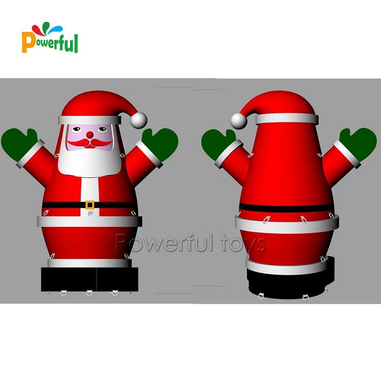 6mH Inflatable Santa Claus model for Christmas