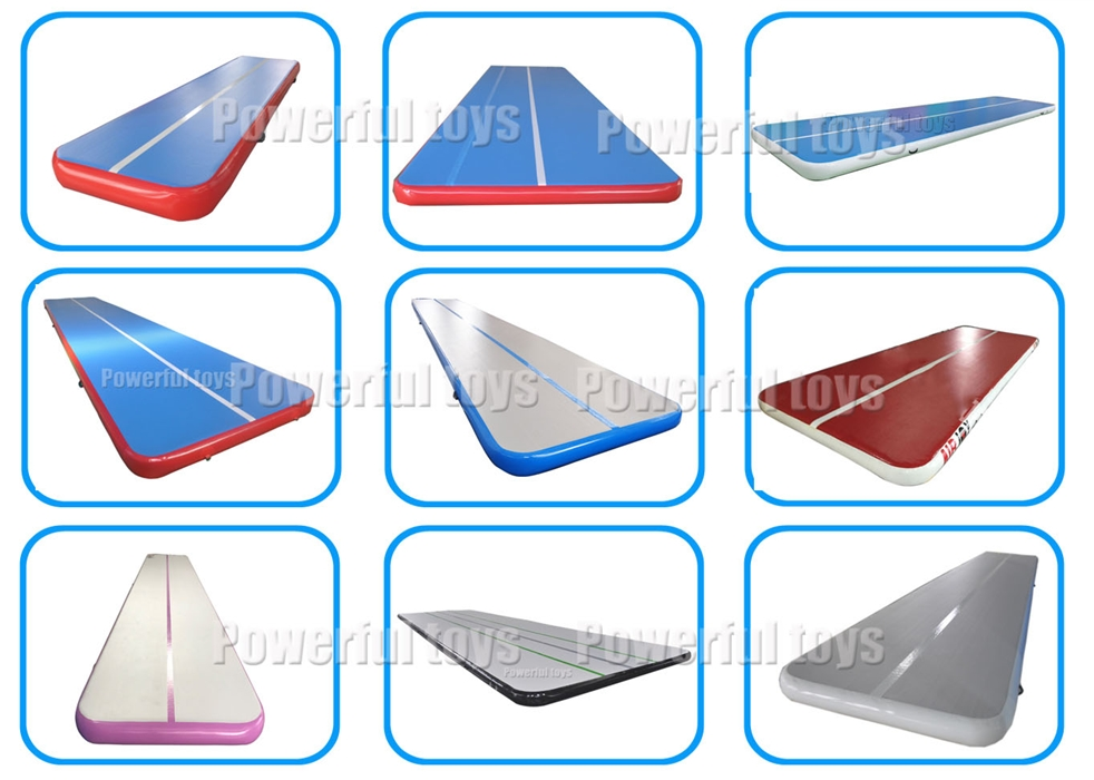 Powerful Toys inflatable inflatable air track gymnastics for cheer leading-8