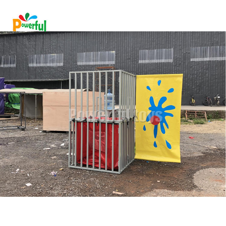 Hot selling water game inflatable dunk tank game for rentals