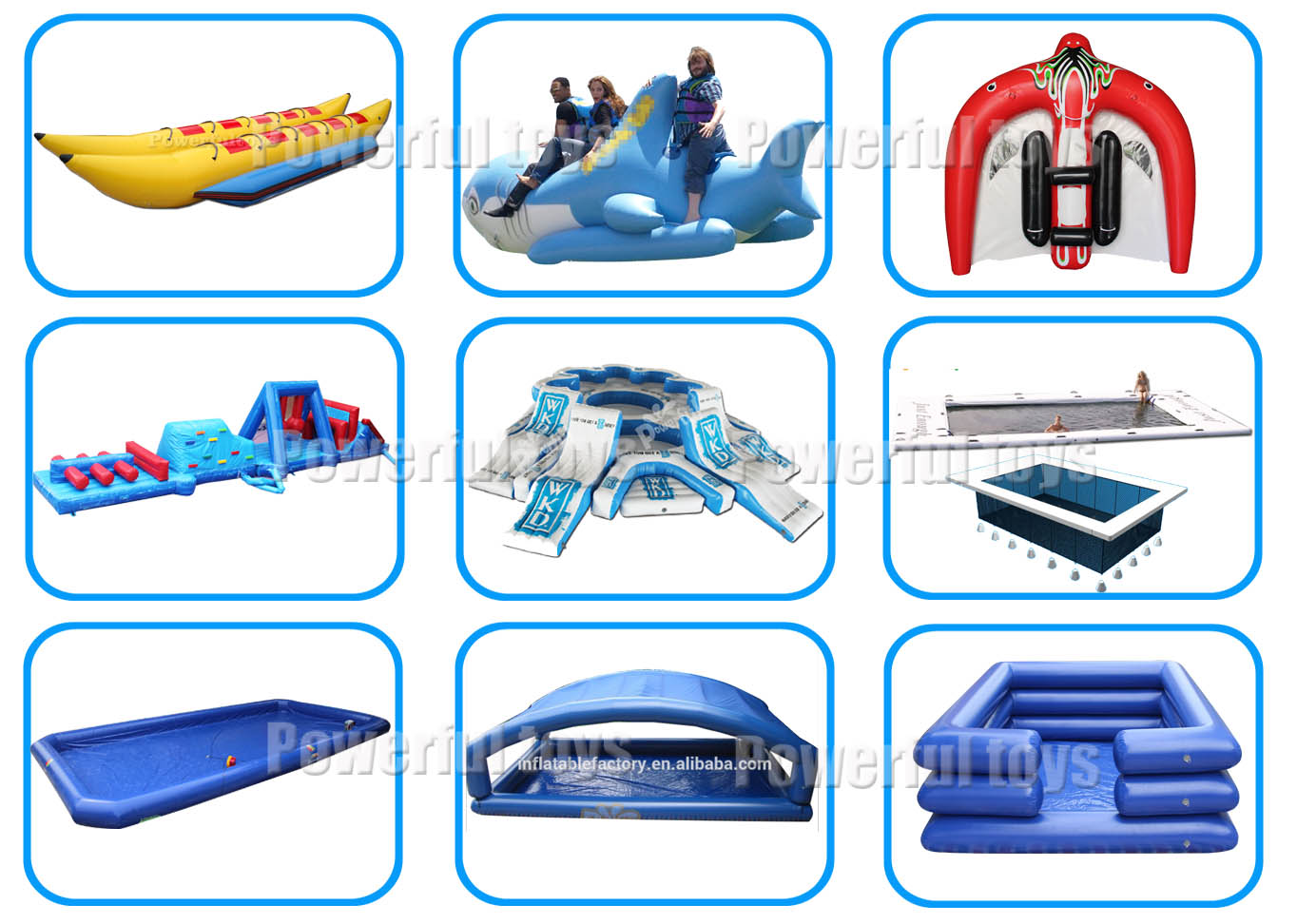 Powerful Toys durable inflatable water play amusement park-9